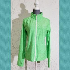 Champion Heathered Green Full Zip Jacket Thumbhole
